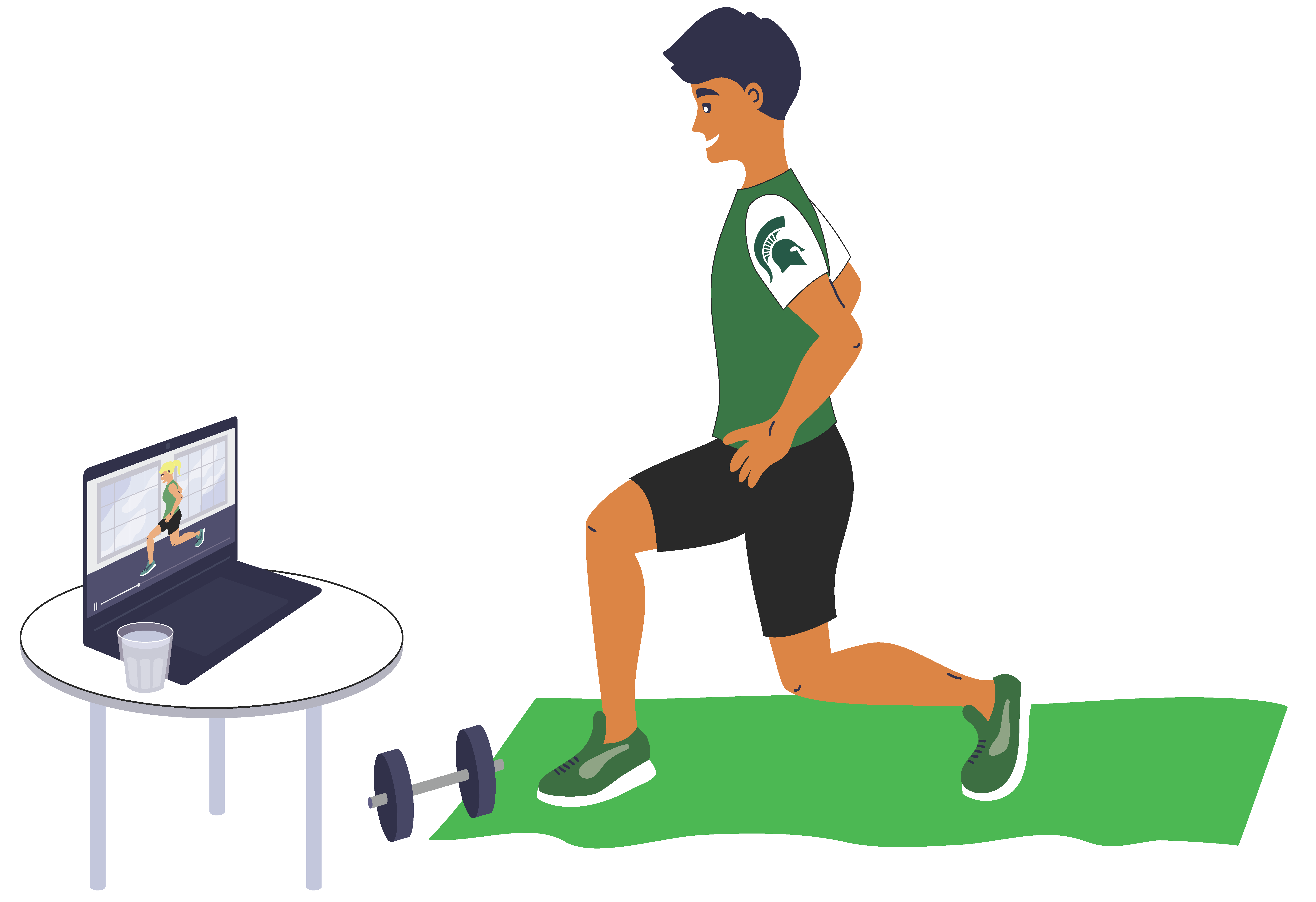 Virtual Thrive Exercise cartoon lunge