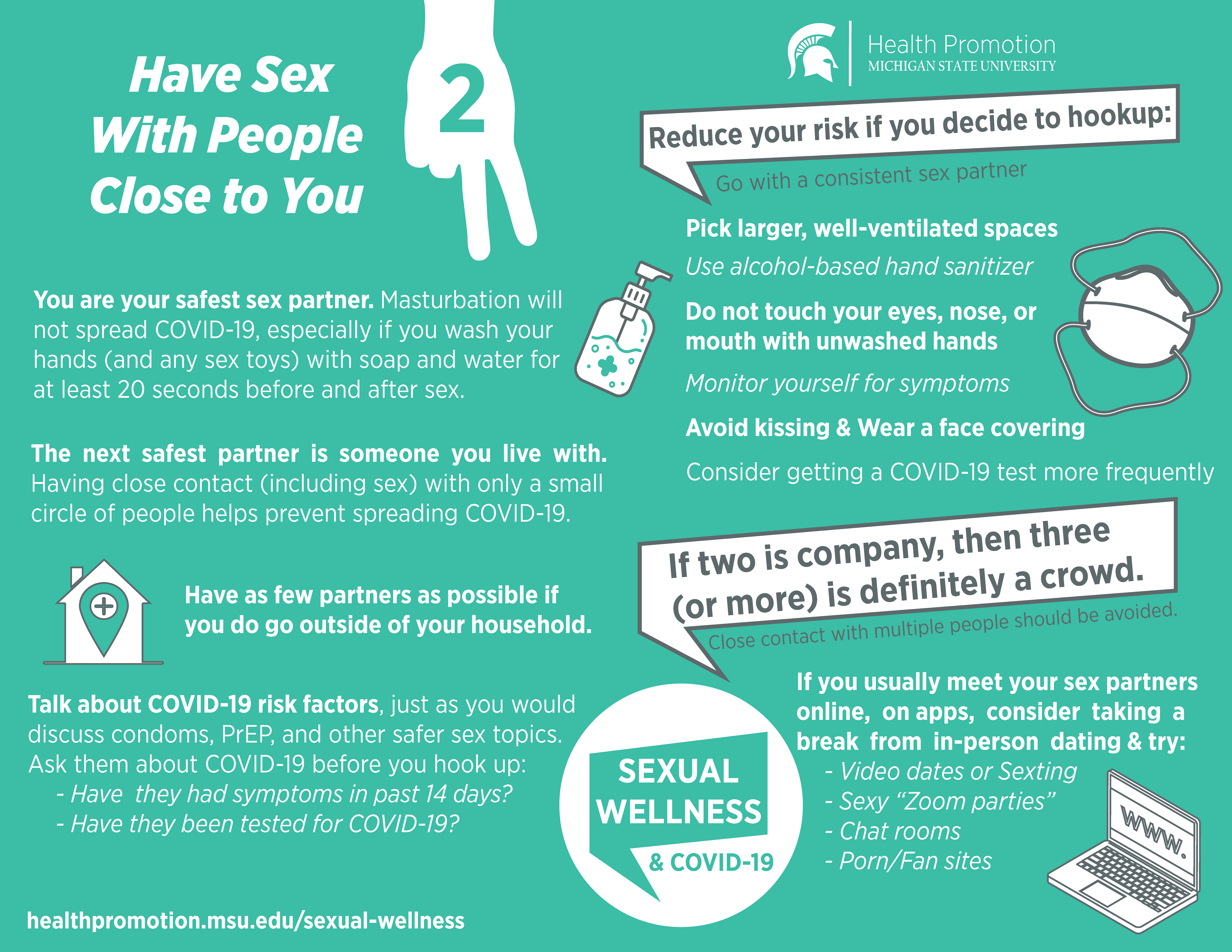 Have sex with people you know